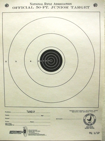 Official NRA TQ-1/1 Junior Rifle Target  - Box of 1000