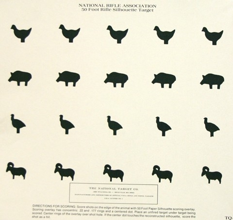 Official NRA TQ-14 - Chick/Turk/Pig/Ram 20 Bulls 50 Ft - Box of 250