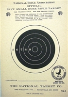 Official NRA TQ-2 - 75 Ft Smallbore Rifle Target  - Box of 1000