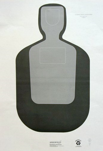 Official NRA TQ-20 - 50Ft Police Silhouette Target - Box of 500