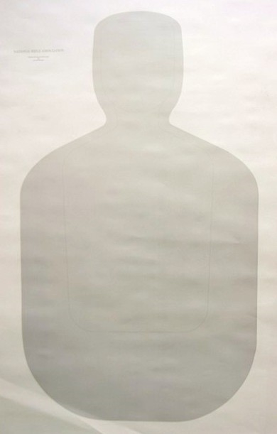 Official NRA TQ-21 - 25 Yd Police Silhouette Target - Box of 100
