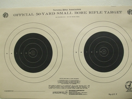 Official NRA TQ-3/2T - 50 Yd Smallbore Rifle Target  - Box of 500