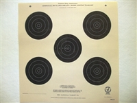 Official NRA TQ-3/5 - 50 Yd Smallbore Rifle Target - Box of 1000