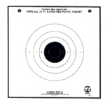 Official NRA TQ-7 - 25 Ft Timed & Rapid Fire Pistol Target - Box of 1000