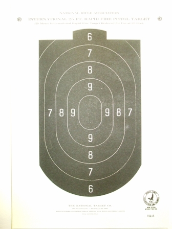 Official NRA TQ-8 - 25 Ft Reduce 25 Meter Air Pistol Target - Box of 1000