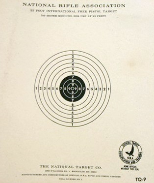 Official NRA TQ-9 - 25 Ft Pistol Reduced 50 Meters Target - Box of 1000