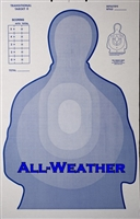 All-Weather - TRS II Blue Corrugated Target - Min 1,000 Units