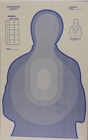 TSR-II DHS Blue Cardboard Target - Bundle of 100