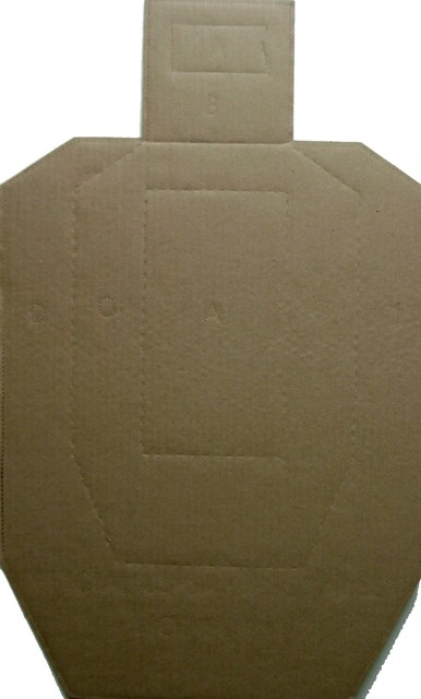 Official IPSC Competition Cardboard Target - Bundle of 100