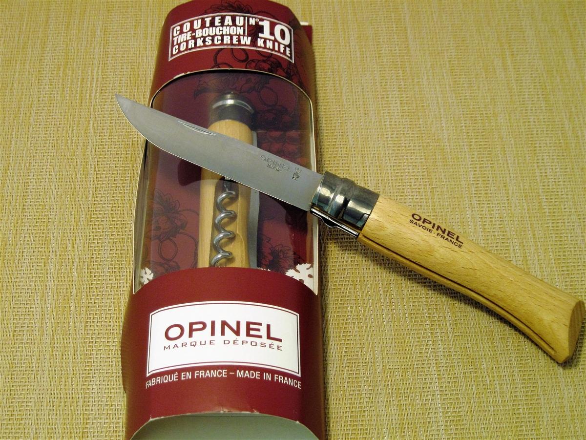 wine knife and corkscrew-Beechwood-Opinel