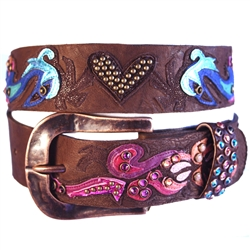 1 1/2 Carnival w/ Hammered Buckle