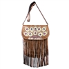 Peacock Plumage Fringe Shoulder Bag