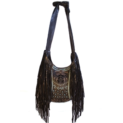 Embroidered Elements Alex Bag With Spikes