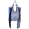 Large Belle Otero Dark Mare Fringed Bag