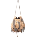Metal Mesh Feather Bag