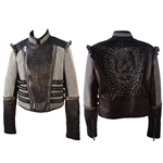 Cropped Chain Mesh Jacket with Metal Death Star