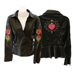 Heart Weeds whip stitch overlay jacket