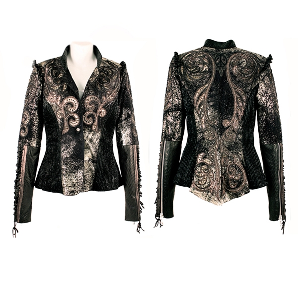 Tattoo Marionette Jacket with Elastic Sides