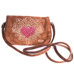 Evolution Medium Heart and Weeds Belt Pouch