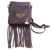 Evolution Heart Weed Pocket Pouch w/ Fringe