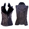 Torerose Embroidered 2010 Vest w/ Beaver Collar
