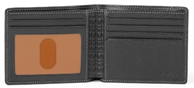 Boconi Tyler Tumbled Rock Solid Billfold in Black