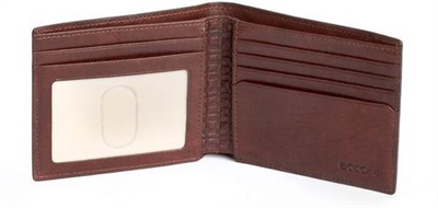 Boconi Becker RFID Billfold in Whiskey Aspen