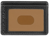 Boconi Tyler Tumbled RFID Weekender ID Card Case Black