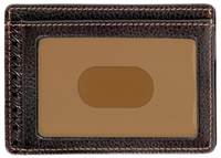 Boconi Tyler Tumbled RFID Weekender ID Card Case Coffee