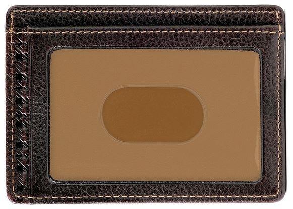 cb3787c74e56 Boconi Tyler Tumbled RFID Weekender ID Card Case Coffee