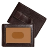 Boconi Tyler Tumbled RFID Two Fold Money Clip in Coffee
