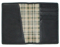 Boconi Tyler Tumbled RFID Passport Case in Black