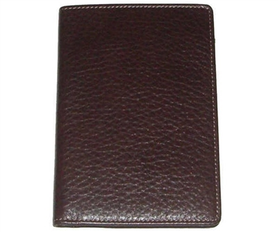 Boconi Tyler Tumbled RFID Passport Case in Coffee