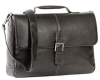 Boconi Tyler Tumbled Brokers Bag in Black