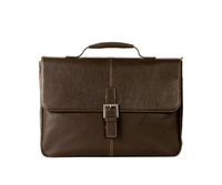 Boconi Tyler Tumbled Brokers Bag in Coffee