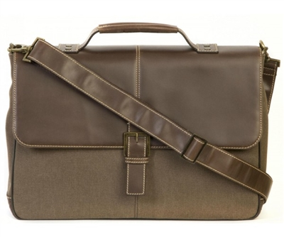 Boconi Bryant LTE Brokers Bag in Mahogany with Heather
