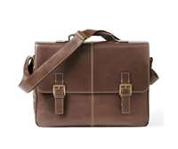 Boconi Bryant Saddle Bag in Mahogany with Khaki