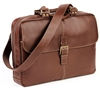 Boconi Bryant Analyst Bag in Antiqued Mahogany