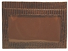 Boconi Lizard Flat Card Case in Brown