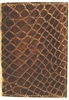 Boconi Crocodile Skin Gusseted Card Case in Brown