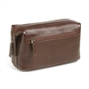 Boconi Tyler Tumbled Cargo Travel Kit in Coffee