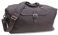 Boconi Tyler Tumbled Cargo Duffle in Coffee