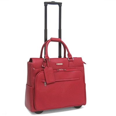 Cabrelli Piper Pebble Laptop Rollerbrief in Red