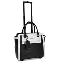 Cabrelli Talula Two Tone Laptop Rollerbrief in Black and White