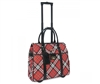 Cabrelli Peyton Plaid Rolling Briefcase in Red Plaid