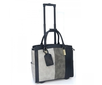 Cabrelli Laila Lizard Rolling Briefcase in Grey Multi