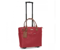 Cabrelli Tasha Tassel Rolling Briefcase in Red