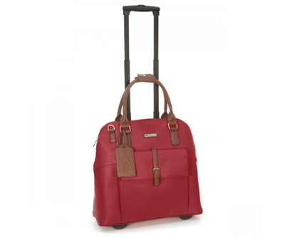Cabrelli Baylie Buckle Rolling Briefcase in Red
