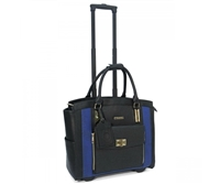 Cabrelli Polly Pocket Rolling Briefcase in Black and Royal