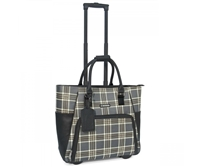 Cabrelli Peggy Plaid Rolling Briefcase in Grey Plaid